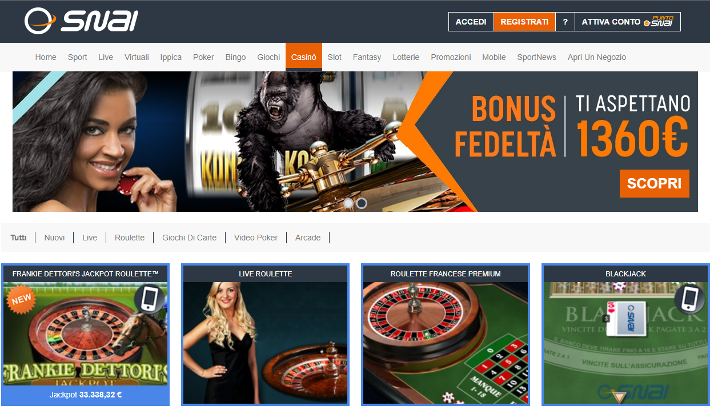 Snai Casino Screenshot