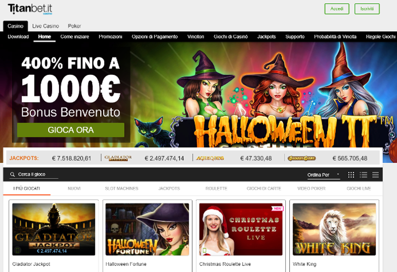 TitanBet Casino Screenshot