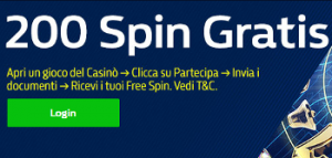 200 giri gratis senza deposito William Hill