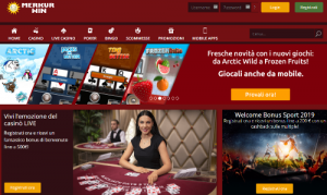 Merkur Win casino homepage